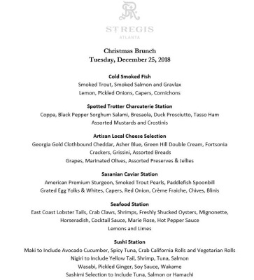 Christmas Brunch Menu Image