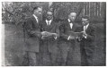 The Morehouse College Quartet is photographed singing in the school's yearbook.