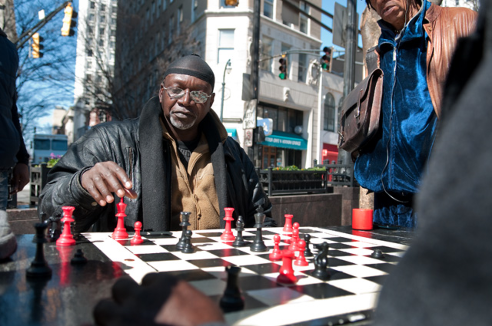 Chess Playing in Downtown Atlanta