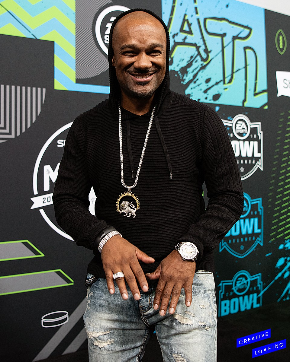 Big Tigger from @bigtiggershow at the blue carpet for Bud Light Live pre Super Bowl 53 weekend. Photos courtesy of Smiling Eyes Media/Stephanie Heath.