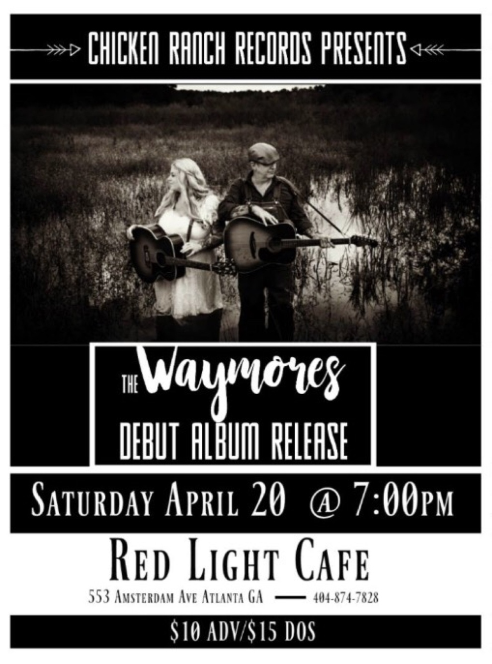 The Waymores Debut Album Release Party At Red Light Cafe Atlanta Ga Apr 20 2019 Poster 1200