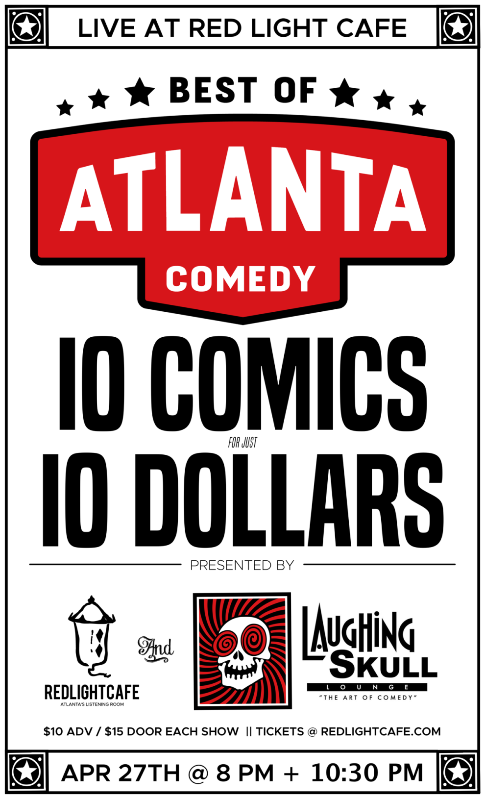 Best Of Atlanta Comedy At Red Light Cafe Presented By Laughing Skull Lounge Atlanta Ga Apr 27 2019 Poster 1200