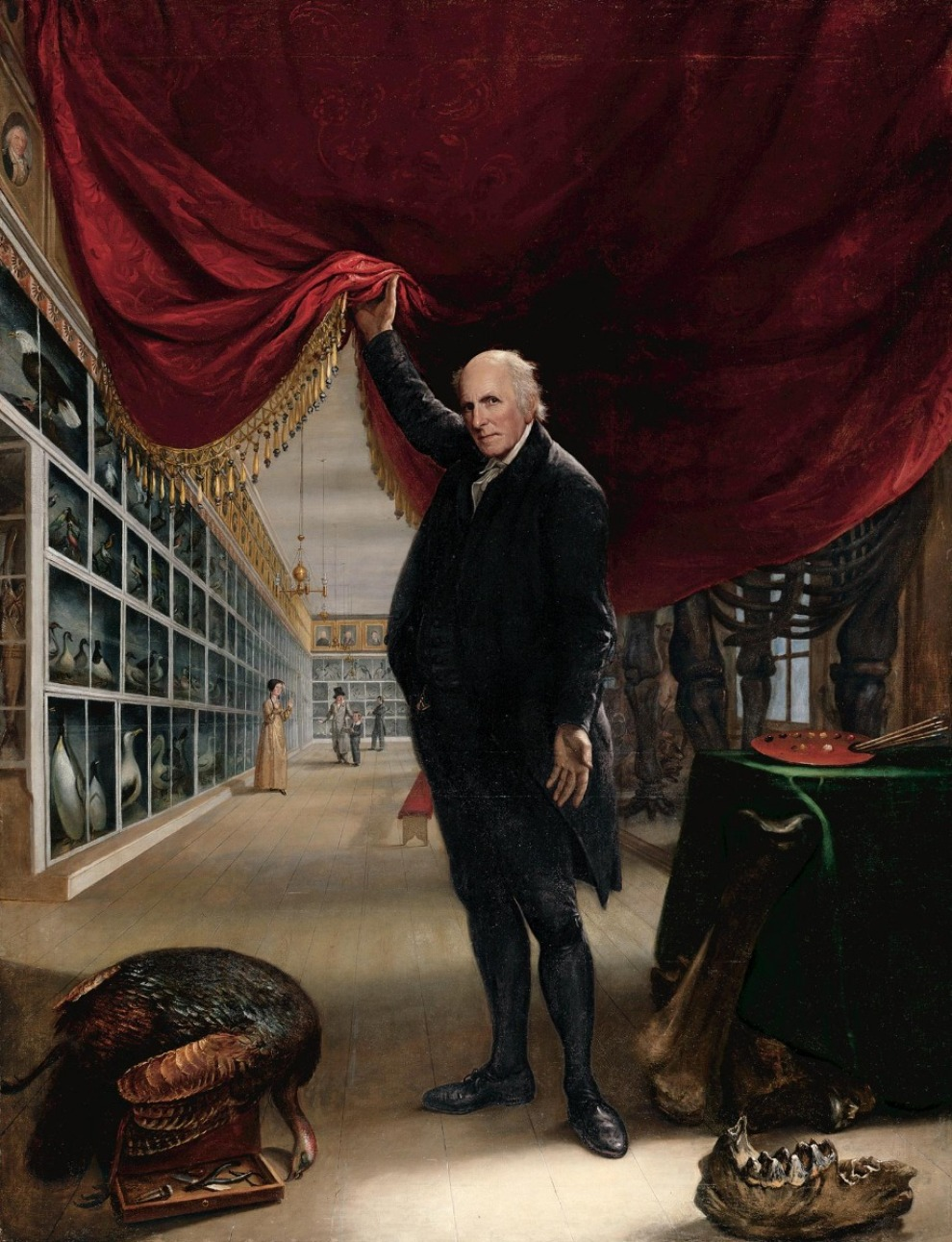 Peale Artist In His Museum 1822