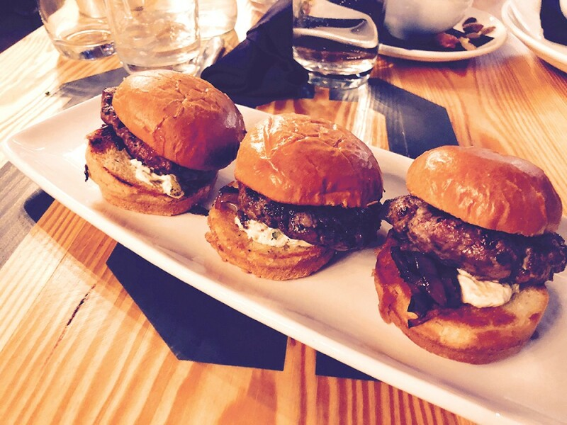 BOXCAR: The lamb sliders, offered as a starter, but enough for an entree. Photo: Cliff Bostock.