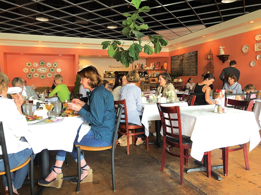 CAFE LAPIN: The ladies who lunch — with me. Photo: Cliff Bostock.