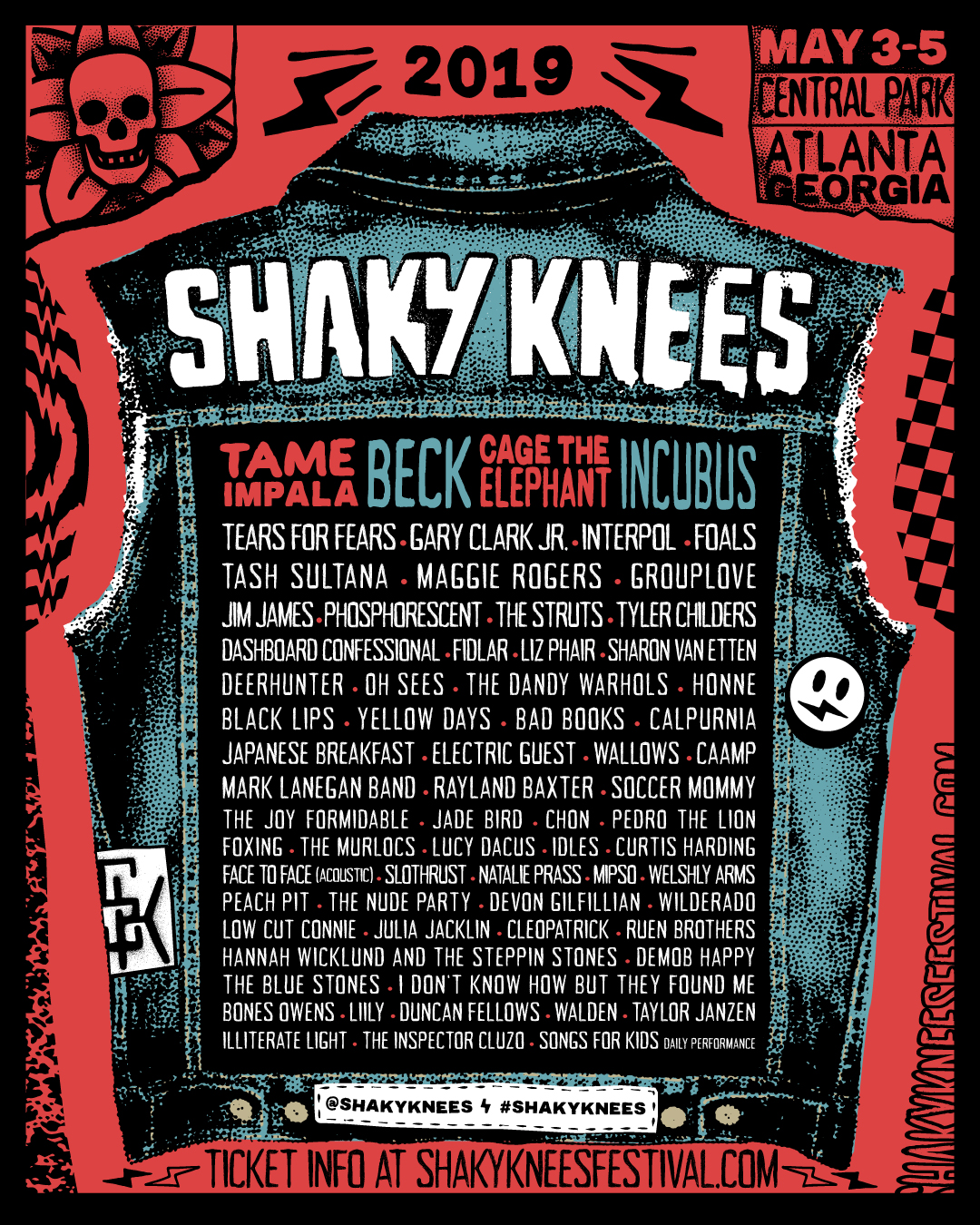 Shaky Knees Bill