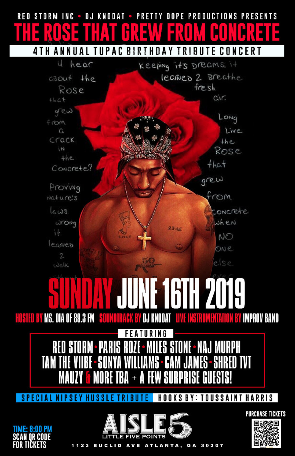 2PAC BDAY TRIBUTE 2019 POSTER