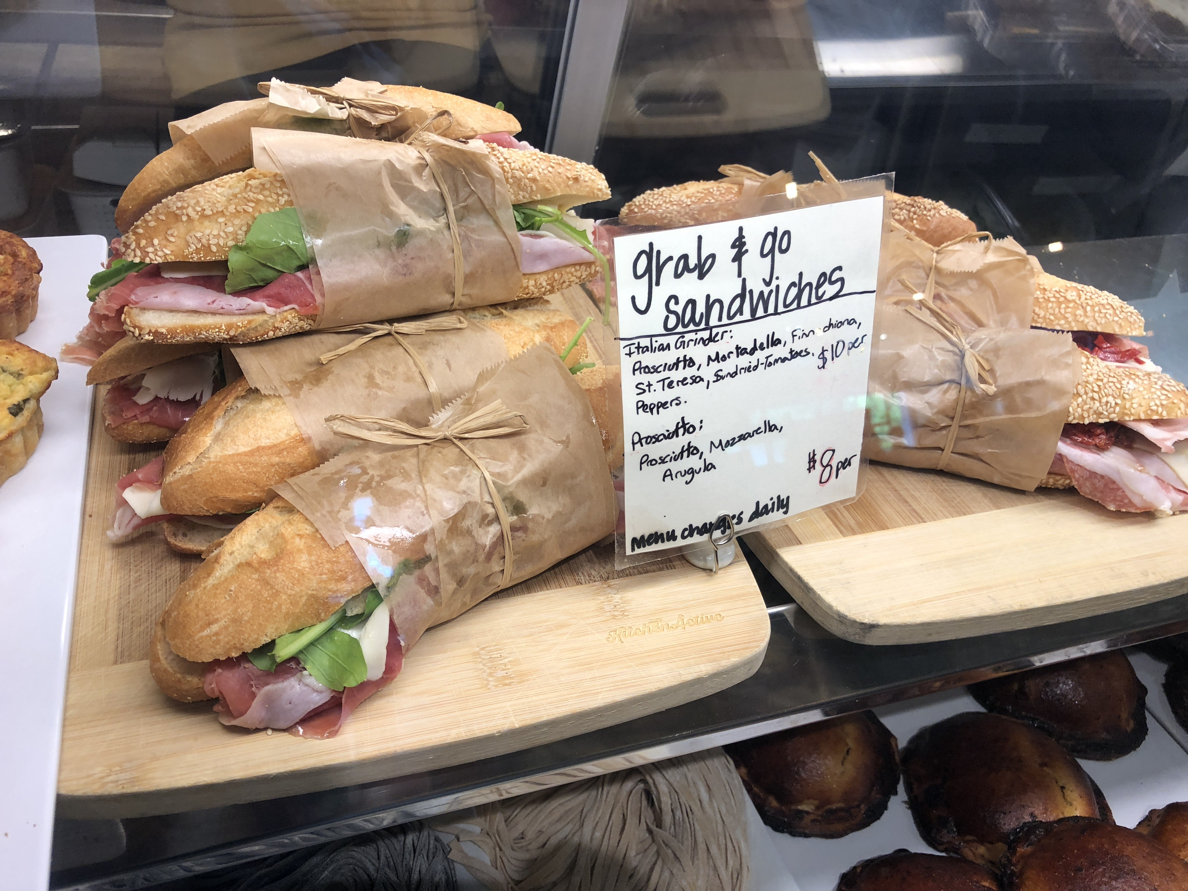 Sandwiches to grab and go at Storico Frescco.