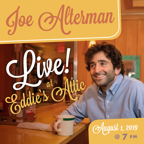 Joe Alterman plays Eddie's Attic, Thurs., August 1.