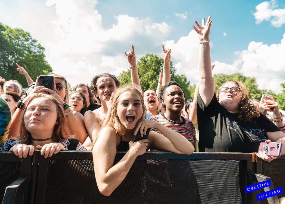 LIVING LIFE TO THE FULLEST AT ROCKSTAR DISRUPT: Fans were shrieking when music heartthrobs Sleeping With Sirens walked onstage. Photo credit: Stephanie Heath