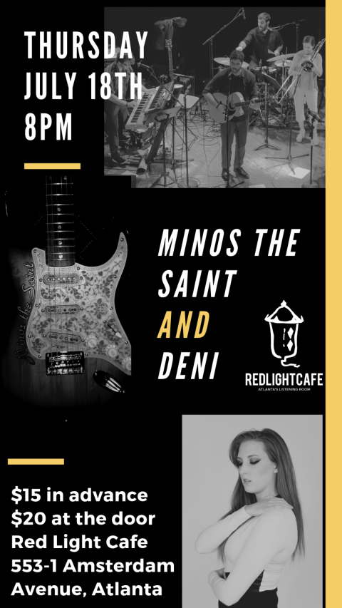 Minos The Saint W Deni At Red Light Cafe Atlanta Ga Jul 18 2019 Poster