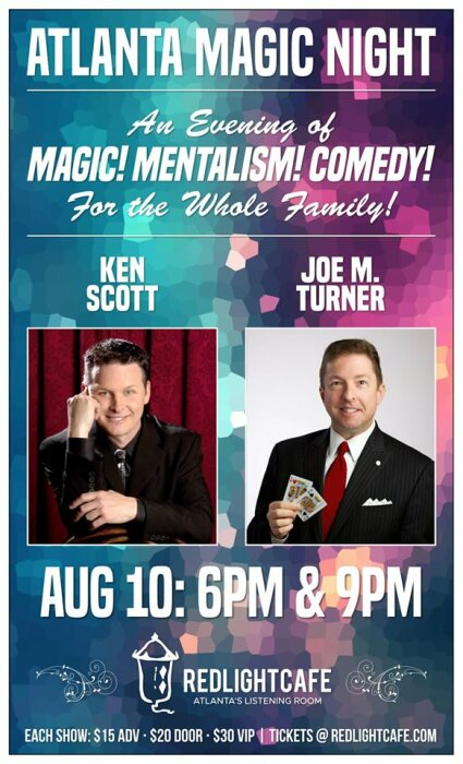 Atlanta Magic Night! is at Red Light Cafe Sat., Aug. 10.