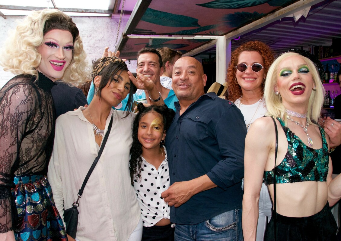 "The Castillo family poses with CL's 2018 Best of Atlanta family Best Drag Queen and Best Event Host Brigette Bidet (right) and Nashville Queen Orchid. ""This pic is everything! It embodies everything I love about Hacienda!"" -Ree de la Vega, Event Organizer and Creator. Photo by Ema Carr."