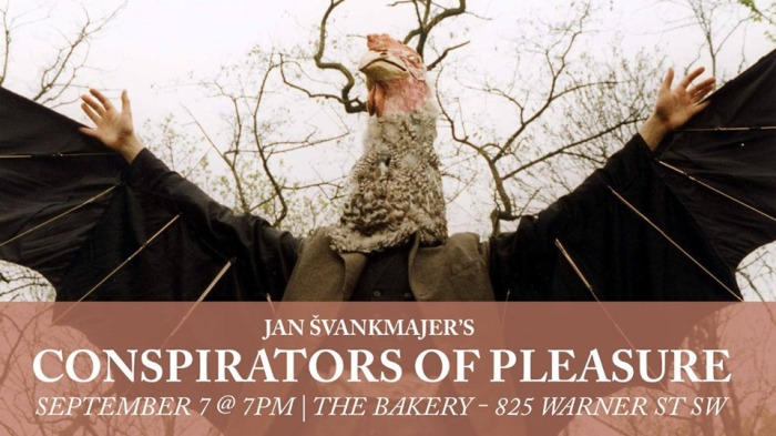 SURREALIST FILM FIASCO: Conspirators of Pleasure, along with other short surrealist films will be shown at The Bakery on Saturday, September 7.