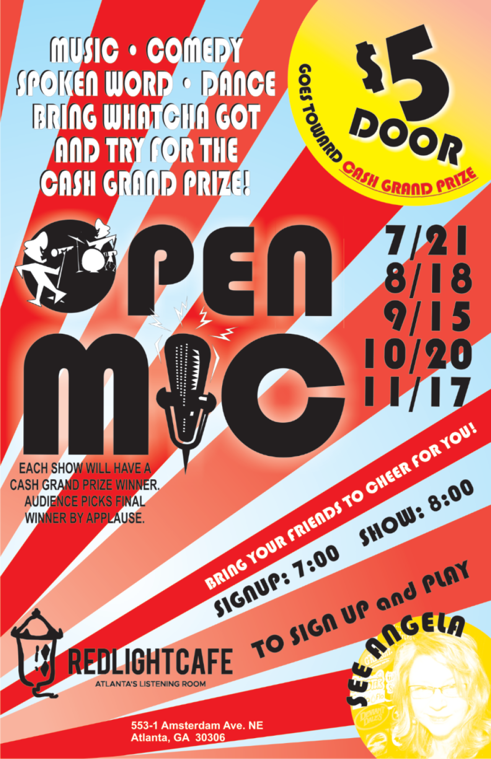 Open Mic Night At Red Light Cafe Atlanta Ga Every Third Sunday 2019 800px