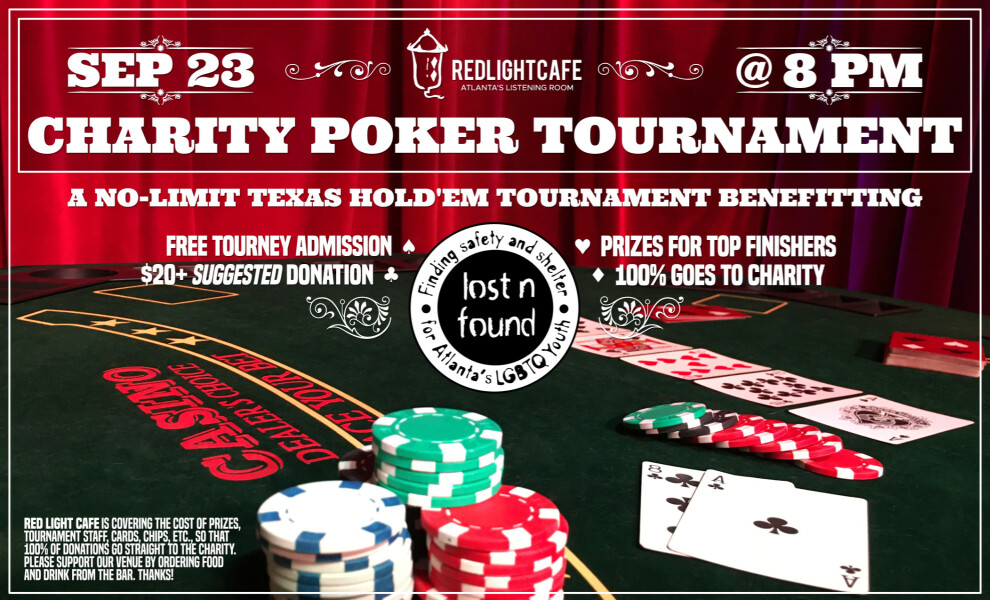Charity Poker Night At Red Light Cafe Atlanta Ga Sep 23 2019 Poster 1200h