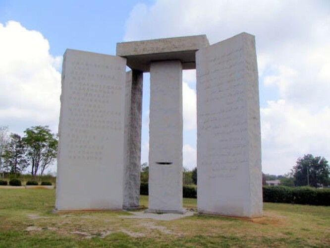 The Georgia Guidestones. Photo credit: David Seibert