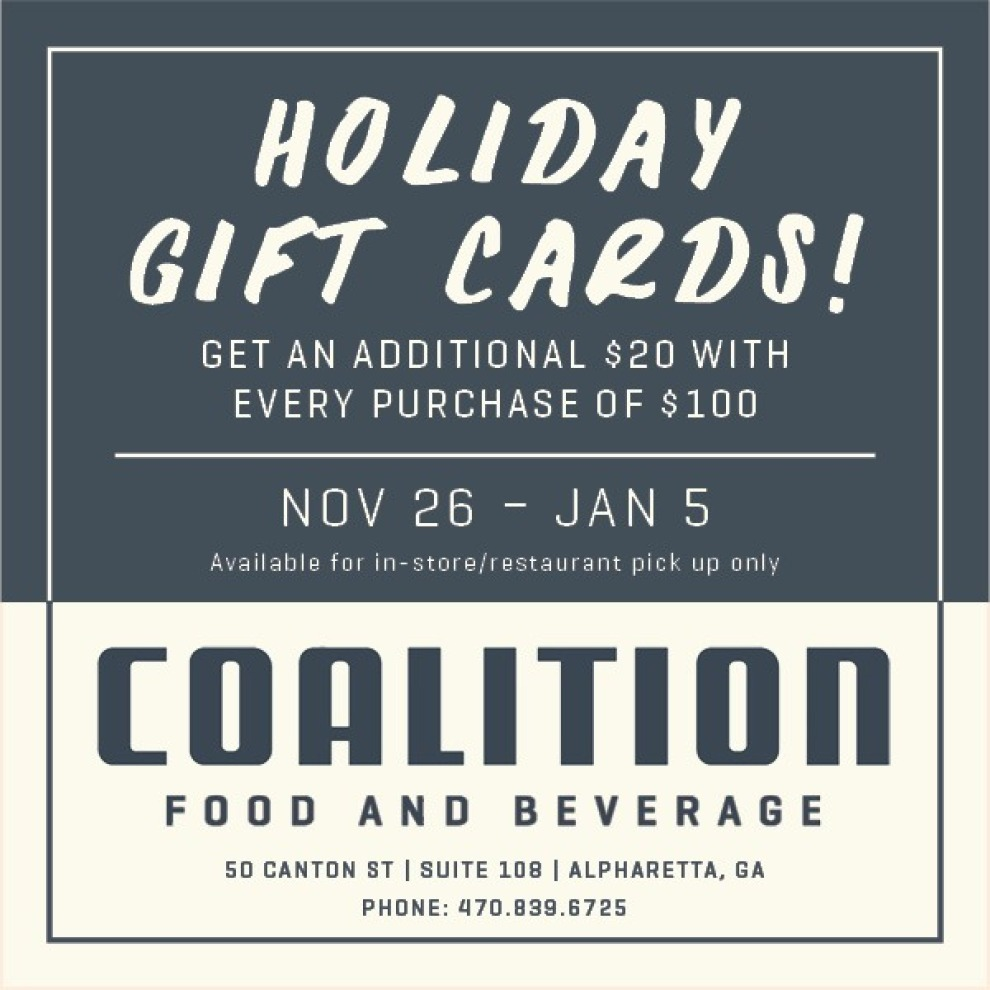 Gift Card Graphic Coalition Food And Beverage