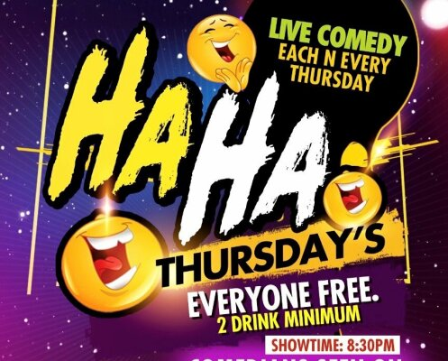 Ha Ha Thursday Flyer