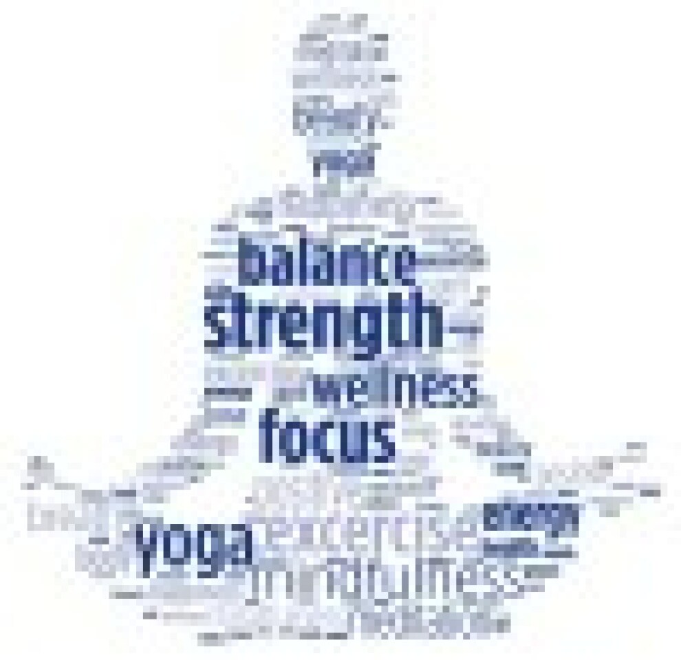 Yoga Wordle Blue