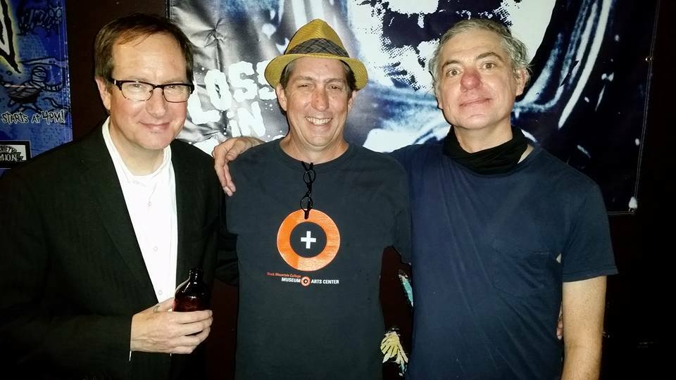 DUO TURNED TRIO: Scott Burland (from left), Frank Schultz, and filmmaker Robbie Land. Photo by Terra McVoy