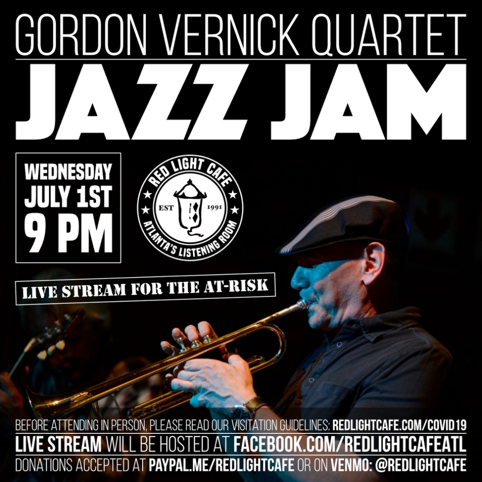 Jazz Jam Gordon Vernick Quartet At Red Light Cafe Atlanta Ga Ju1 1 2020 Square
