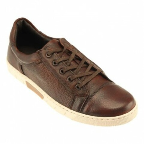 Tribeca Deerskin Lace Up Leather Sneaker 1