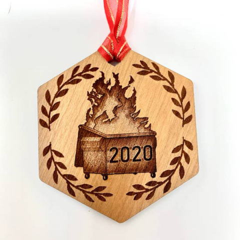 Dumpster 2020 Ornament
