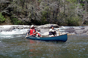 Camping Canoe Footer Image