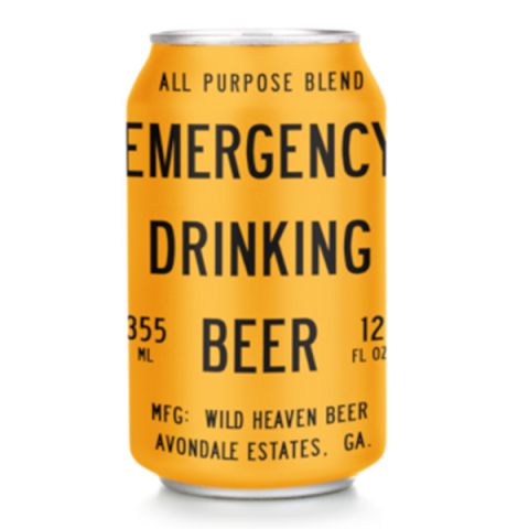 Emergency Drinking Beer From Wild Heaven