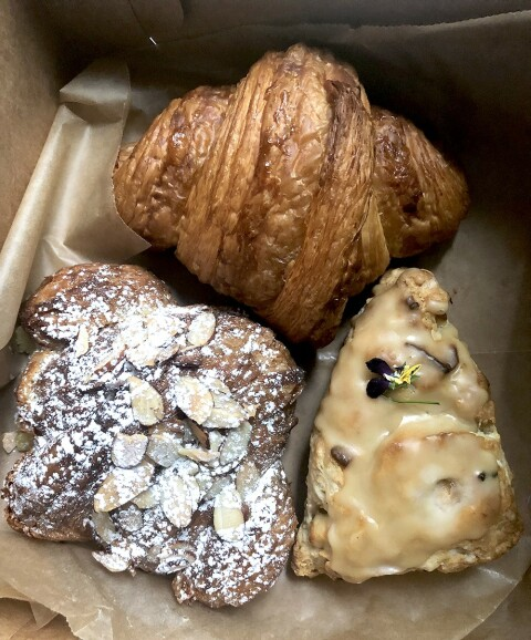 PASTRY PLUNDER: The Little Tart Bakery makes the best croissants, almond or butter, in the city. The scones ain't bad, either. We are open to test competitors.
