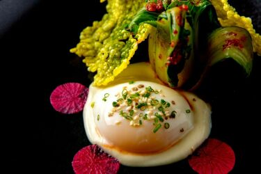 THE PAN ASIAN EGG, Soft Coddled Farm Egg, Bok Choy, Ginger, Rice Cracker Preview Preview