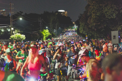 OVER THE MOON: Atlanta Moon Ride welcomes riders for a six-mile night ride around Midtown on June 8.