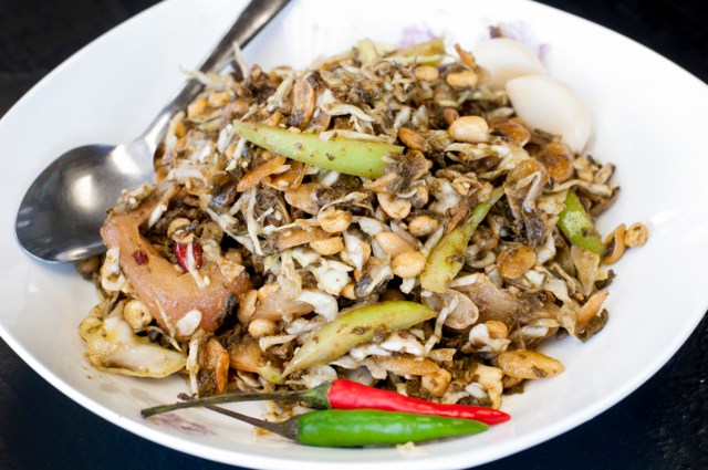 ROYAL MYANMAR COUSINE: Tea leaf salad. Photo by JOEFF DAVIS