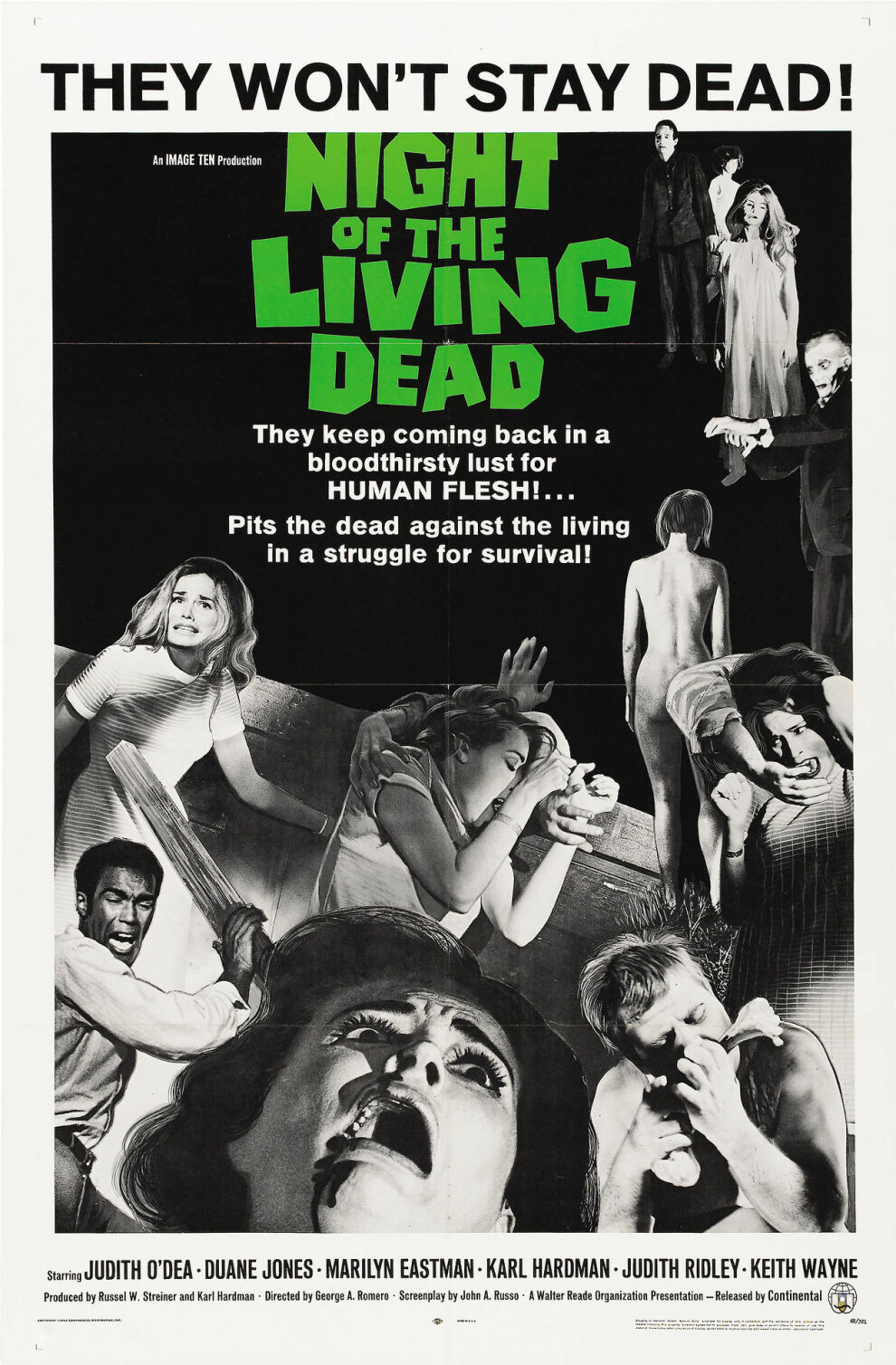 Night Of The Living Dead (1968) Theatrical Poster