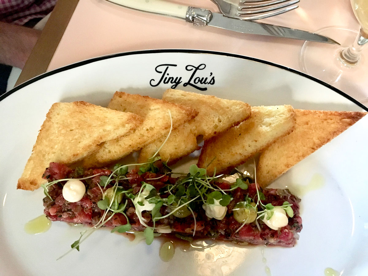 Steak Tartar at Tiny Lou's Photo by Angela Hansberger