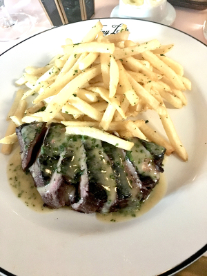 Jeb Aldrich's steak frites in all it's succulent glory. Photo by Angela Hansberger.