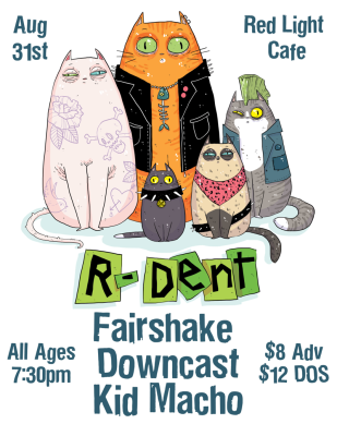 Fairshake R Dent Downcast Kid Macho At Red Light Cafe Atlanta Ga Aug 31 2018 Poster 800