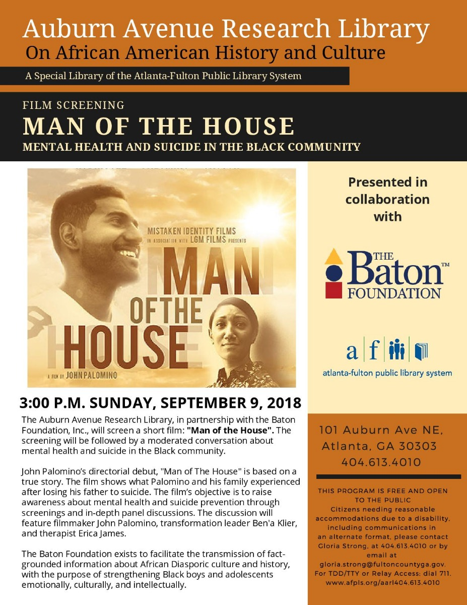 Man Of The House Mental Health And Suicide In The Black Community